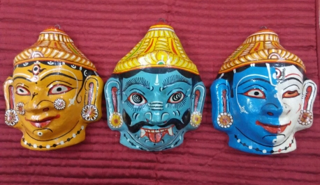 Masks, Odisha. Photograph courtesy: Abira Bhattacharya