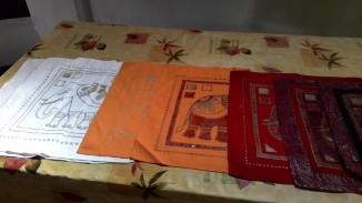 Stages of Batik. Photograph courtesy: Sushmit.