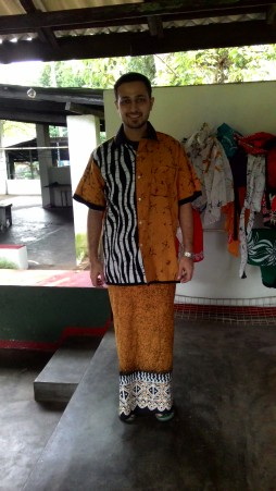 Author in a Batik Sarong-ensemble. Photograph courtesy: Sushmit.