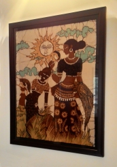 Women in the fields, Batik, c.1975, Sri Lanka, (Private Collection). Photograph courtesy: Sushmit.