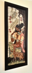 A lady with a deer, Batik, c.1975, Sri Lanka, (Private Collection). Photograph courtesy: Sushmit.