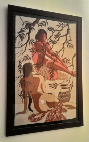 Two bathing women, Batik, c.1975, Sri Lanka, (Private Collection). Photograph courtesy: Sushmit.