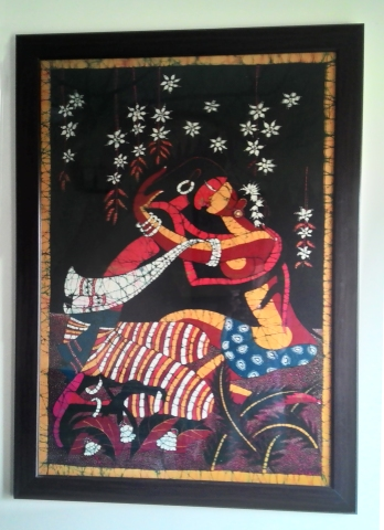 Lovers, Batik, c.1975, Sri Lanka, (Private Collection). Photograph courtesy: Sushmit.