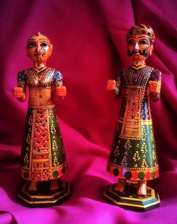 Idols of Gauri and Isar, Polychrome wood, Jodhpur. Photograph Courtesy: Sushmit.