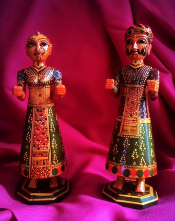 Idols of Gauri and Isar, Polychrome wood, Jodhpur. Photograph Courtesy: Sushmit.