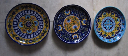 Painted Plates, Jaipur Blue Pottery.