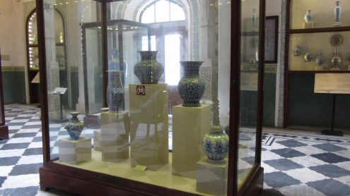Display of Jaipur Blue pottery, Albert Hall Museum, Jaipur.