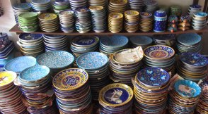 Painted Plates, Jaipur Blue Pottery, Amer Road.