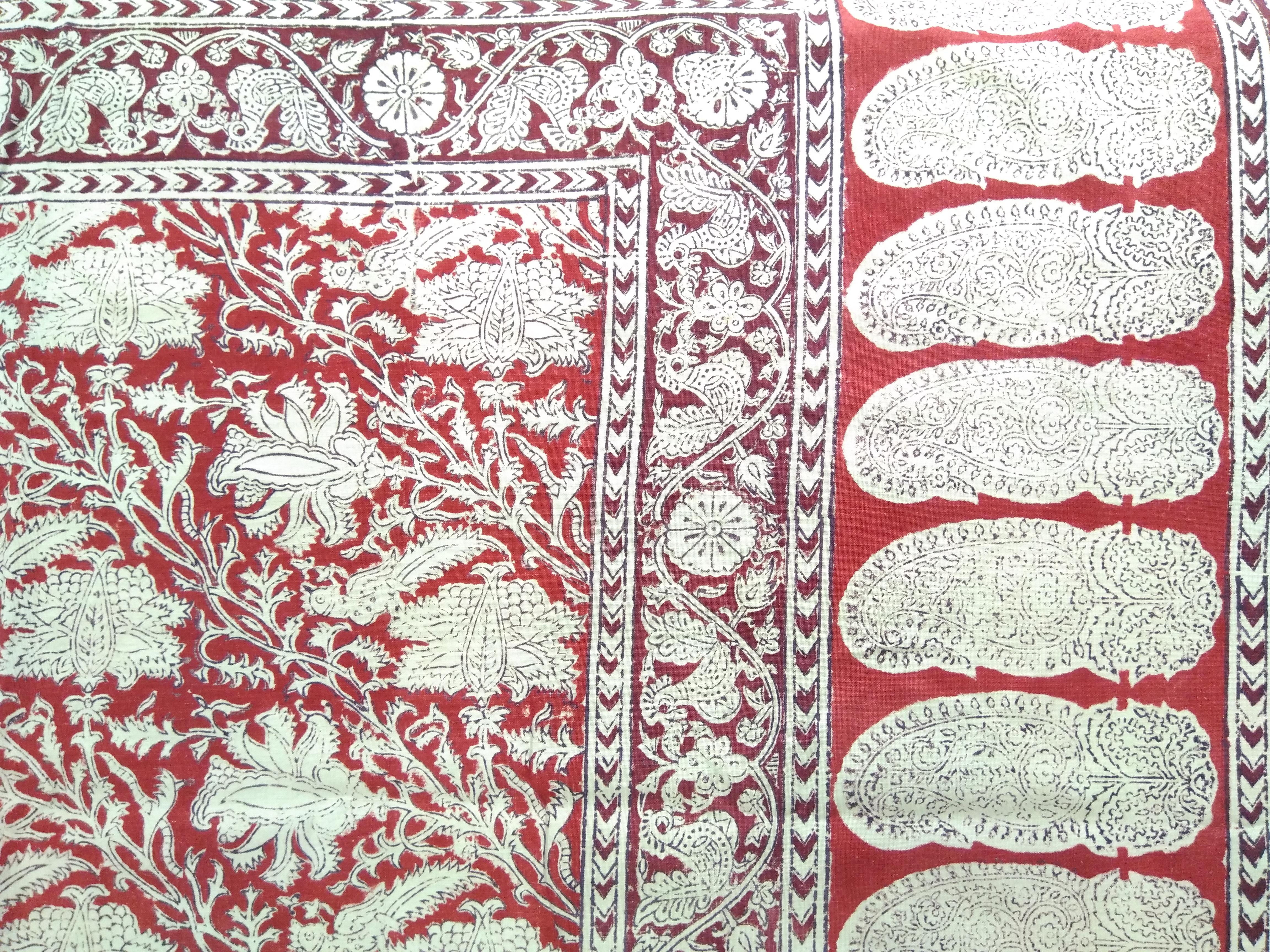 Chandani (Canopy), block print, 20th century, Lt. 226; Wd. 127 cm, probably Ahmedabad, Gujarat. Courtesy: Sushmit.